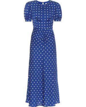 Синее платье миди из вискозы Self-portrait