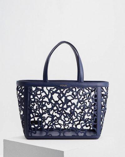 Синяя кожаный сумка Tous