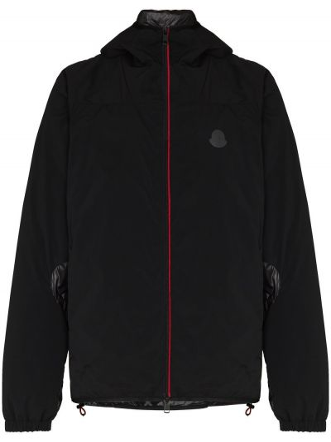 Klasyczna czarna kurtka z kapturem Moncler