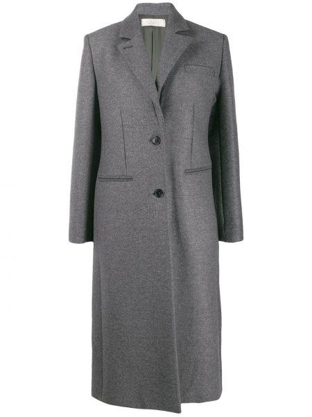 Однобортное шерстяное приталенное пальто классическое на пуговицах Nina Ricci