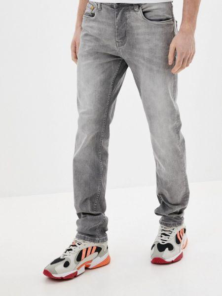 Серые зауженные джинсы-скинни из микрофибры Sublevel