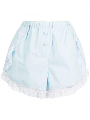 Хлопковые шорты - синие Morgan Lane