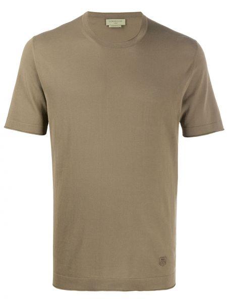 Koszula krótkie z krótkim rękawem wojskowy prosto Corneliani