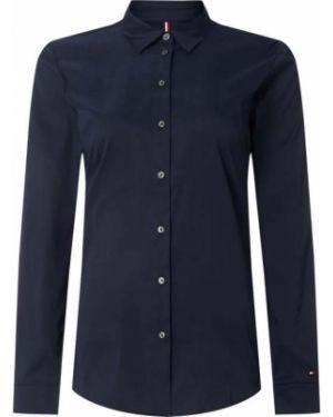 Niebieska bluzka z haftem bawełniana Tommy Hilfiger