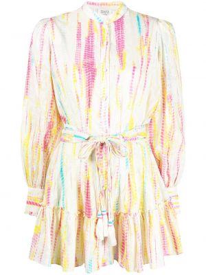 Хлопковое с рукавами платье макси с воротником-стойка Hemant And Nandita