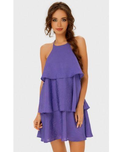 Платье мини весеннее фиолетовый Anushka By Anna Pavlova
