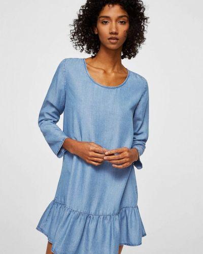 Джинсовое платье с длинными рукавами Mango