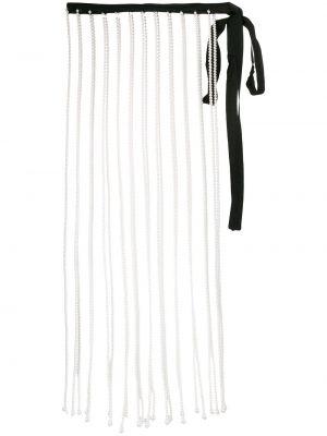 Biały ażurowy spódnica frędzlami Christopher Kane