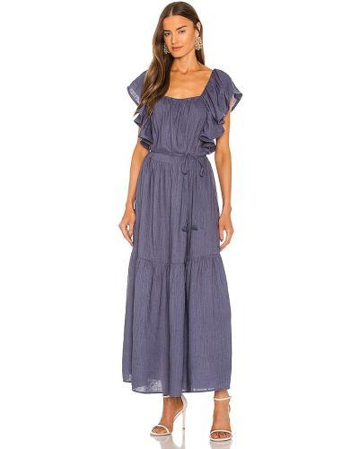 Льняное платье макси - синее Elliatt