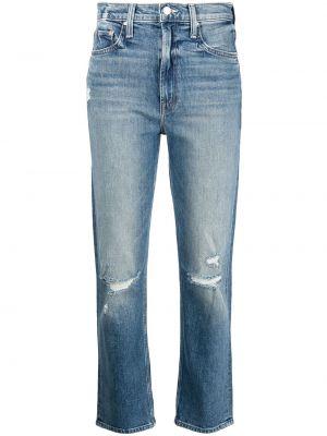 Синие джинсы с нашивками Mother