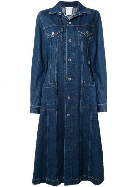 Платье миди джинсовое на пуговицах Helmut Lang