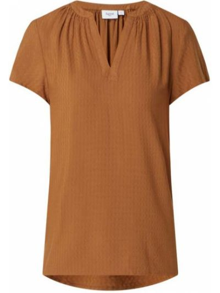 Bluzka z wiskozy - brązowa Saint Tropez