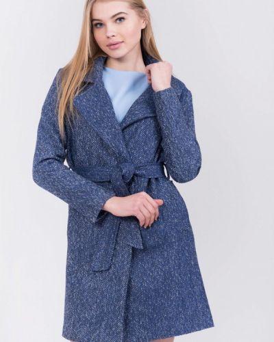 Синее пальто весеннее Olko