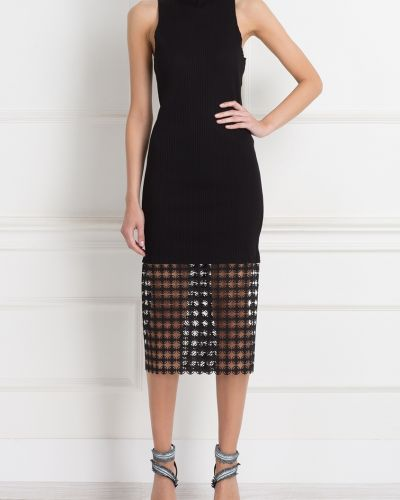Платье миди - черное Edun