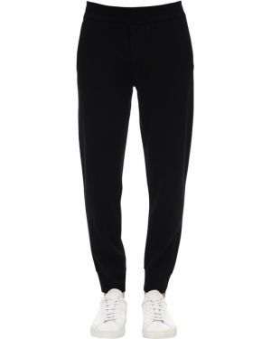 Czarne spodnie z wiskozy Falke