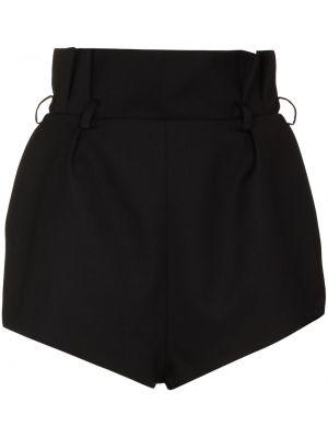 Черные шорты с завышенной талией Alexandre Vauthier
