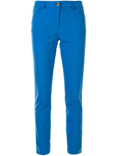 Niebieskie spodnie z paskiem Escada