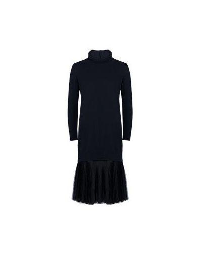 Комбинированное платье - синее Fabiana Filippi