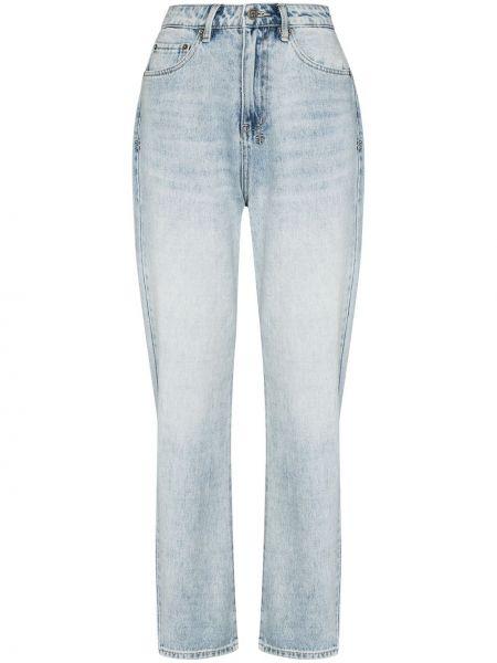 Niebieskie mom jeans srebrne Ksubi