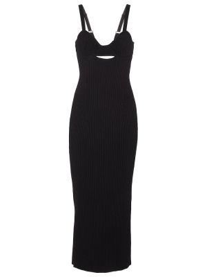Czarna sukienka długa z wiskozy Magda Butrym