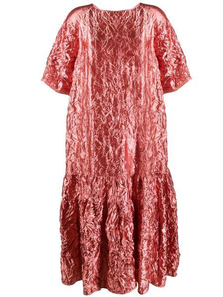 Платье мини розовое на пуговицах Rochas