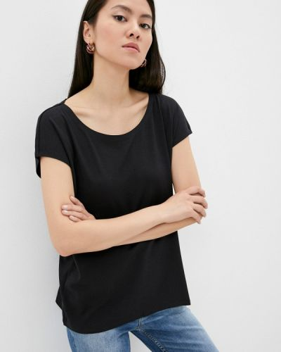 Черная футболка с короткими рукавами Max&co