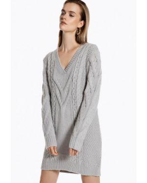 Платье серое вязаное Ivyrevel
