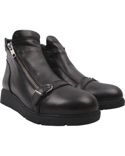 Кожаные ботинки - черные Mario Muzi