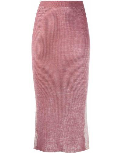 С рукавами розовое трикотажное платье макси Diesel