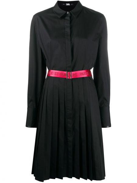 Платье с поясом на пуговицах классическое Karl Lagerfeld