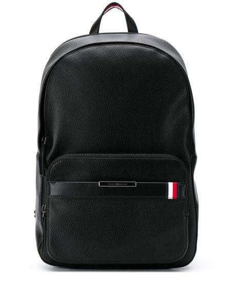 Рюкзак для ноутбука кожаный черный Tommy Hilfiger