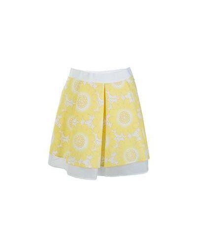 Вязаная юбка пышная желтый Patrizia Pepe