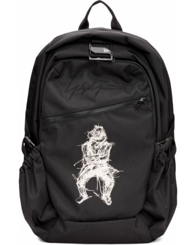 Czarny plecak na laptopa miejski z haftem Yohji Yamamoto