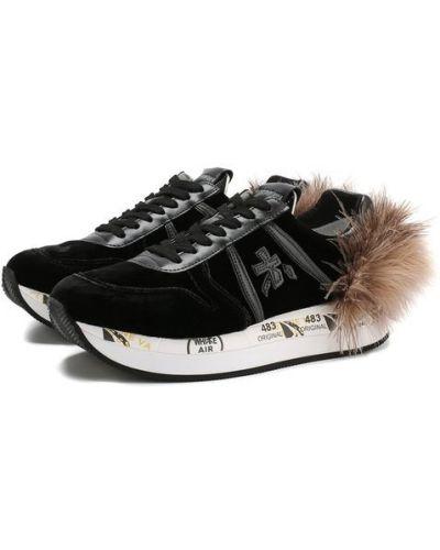 Черные кроссовки резиновые Premiata