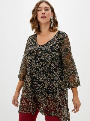 Черная блузка летняя Malena