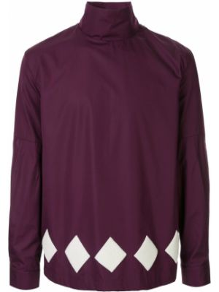 Хлопковая фиолетовая рубашка с воротником Namacheko