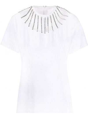 Хлопковая с рукавами белая футболка Christopher Kane