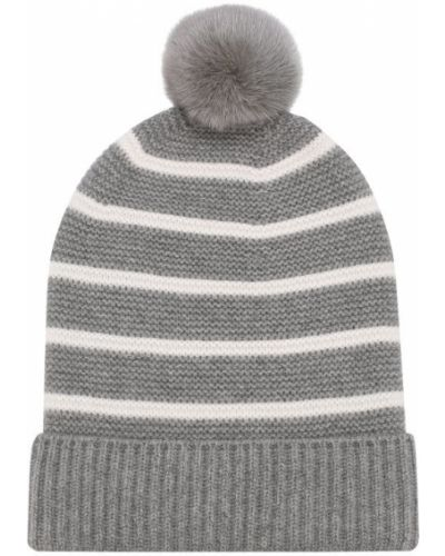 Вязаная шапка с помпоном с ушками Loro Piana