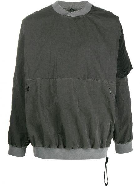 Zielona bluza z długimi rękawami z nylonu Nemen
