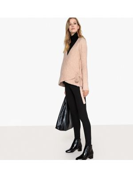 Платье для беременных с V-образным вырезом платье-свитер La Redoute