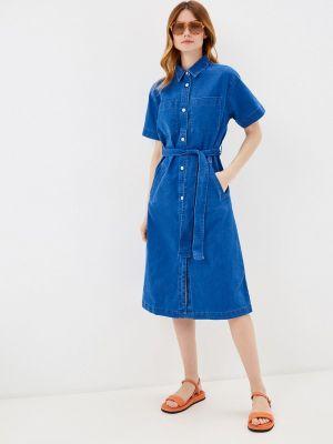 Джинсовое синее платье Ichi