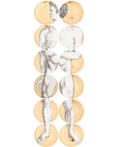 Золотистый домашний желтый маникюрный набор Fornasetti