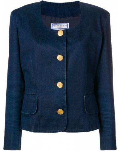 Пиджак джинсовый свободный Yves Saint Laurent Vintage