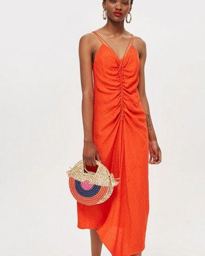 Оранжевый сарафан Topshop
