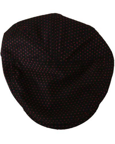 Czarna czapka elegancka Dolce And Gabbana
