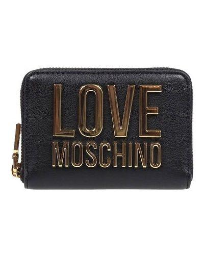 Złoty portfel - czarny Love Moschino