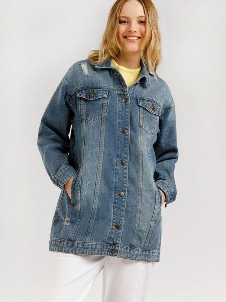 Расклешенная синяя свободная джинсовая куртка Finn Flare
