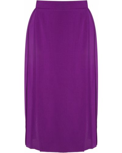 Шелковая фиолетовая плиссированная юбка миди Gareth Pugh