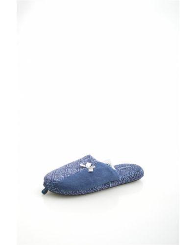 Тапочки синие итальянские De Fonseca