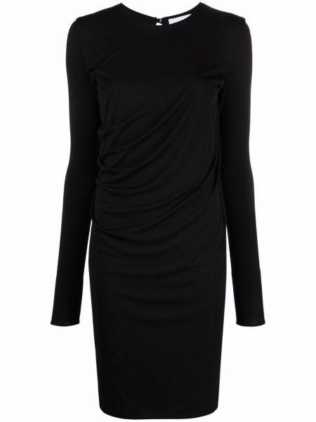 Черное платье из полиэстера Salvatore Ferragamo